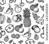 vector hand drawn seamless... | Shutterstock .eps vector #1621303333