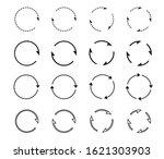 set of black circle arrows.... | Shutterstock .eps vector #1621303903