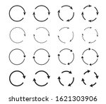 set of black circle arrows.... | Shutterstock .eps vector #1621303906