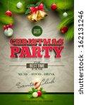 vector christmas party design... | Shutterstock .eps vector #162131246