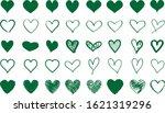 green heart contour vector.... | Shutterstock .eps vector #1621319296