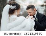 bride and groom posing. the... | Shutterstock . vector #1621319590