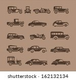 old cars. vector format | Shutterstock .eps vector #162132134