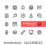 basic line icons set. modern... | Shutterstock .eps vector #1621348213