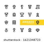 awards line icons set. modern... | Shutterstock .eps vector #1621348723