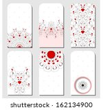 set of six tags. abstract... | Shutterstock .eps vector #162134900