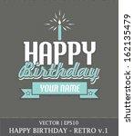 Happy Birthday Boy Retro Card...