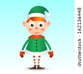 christmas elf | Shutterstock .eps vector #162136448