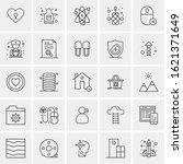 25 universal icons vector...   Shutterstock .eps vector #1621371649