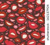 seamless hot love lips... | Shutterstock .eps vector #162137924