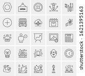 25 universal icons vector... | Shutterstock .eps vector #1621395163