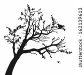 tree silhouettes. vector... | Shutterstock .eps vector #162139613