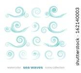 new set of sea waves symbols...   Shutterstock .eps vector #162140003
