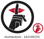 woman making silence sign  no... | Shutterstock .eps vector #162140153
