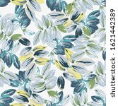 trendy floral background with... | Shutterstock .eps vector #1621442389