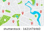 city map with pins. town...   Shutterstock .eps vector #1621476460