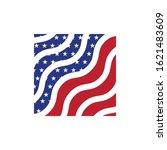 usa flag vector art.fully... | Shutterstock .eps vector #1621483609