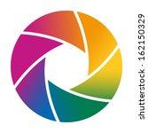 colorful camera shutter. vector ... | Shutterstock .eps vector #162150329
