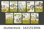hiking summer camp advertising... | Shutterstock .eps vector #1621513006