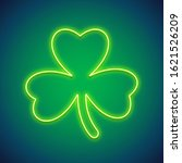 st patricks day clover glowing...   Shutterstock .eps vector #1621526209