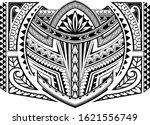 polynesian ornamental tattoo... | Shutterstock .eps vector #1621556749