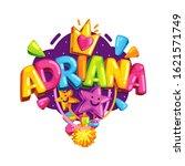 adriana girl name color... | Shutterstock .eps vector #1621571749