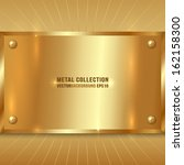 vector metallic award golden... | Shutterstock .eps vector #162158300
