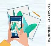 man photographs art picture.... | Shutterstock .eps vector #1621597066