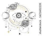 boho design element or logo in... | Shutterstock .eps vector #1621602220