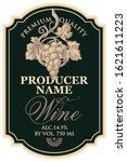 vector wine label with hand...   Shutterstock .eps vector #1621611223