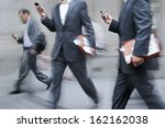 business people at rush hour... | Shutterstock . vector #162162038