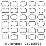 thirty blank  labels | Shutterstock . vector #162165998