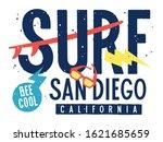 surfing artwork for child t... | Shutterstock .eps vector #1621685659