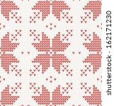 seamless pattern with red stars ... | Shutterstock . vector #162171230