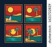 simple logo badge beach design  ... | Shutterstock .eps vector #1621722829