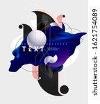 fluid poster design. abstract... | Shutterstock .eps vector #1621754089