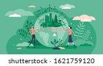 go green call for global... | Shutterstock .eps vector #1621759120