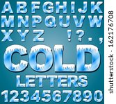 an alphabet set of cold letters ... | Shutterstock .eps vector #162176708