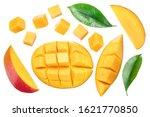 Set Of Mango Cubes And Mango...