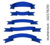 blue ribbons flags   Shutterstock .eps vector #162178250