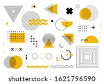 geometric abstract elements... | Shutterstock .eps vector #1621796590