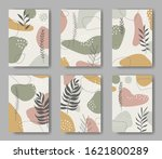 set of six vector cards with...   Shutterstock .eps vector #1621800289