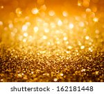 Golden Glitter And Stars For...