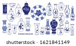 blue and  white chinese... | Shutterstock .eps vector #1621841149