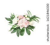 fresh flowers and peony buds... | Shutterstock . vector #1621846330