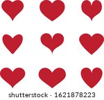 red heart icon vector. flat... | Shutterstock .eps vector #1621878223