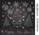 christmas elements for design.... | Shutterstock .eps vector #162188786