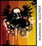grunge retro skull vector... | Shutterstock .eps vector #16219054