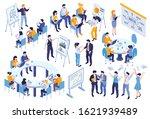 isometric business education... | Shutterstock .eps vector #1621939489