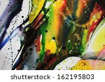 abstract watercolor texture.... | Shutterstock . vector #162195803